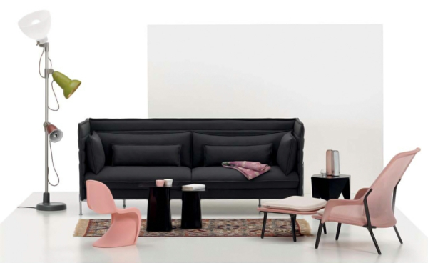 designer möbel werner panter kleiner rosa stuhl