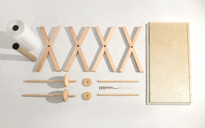 designer schreibtische analog memory desk aus holz bestandteile