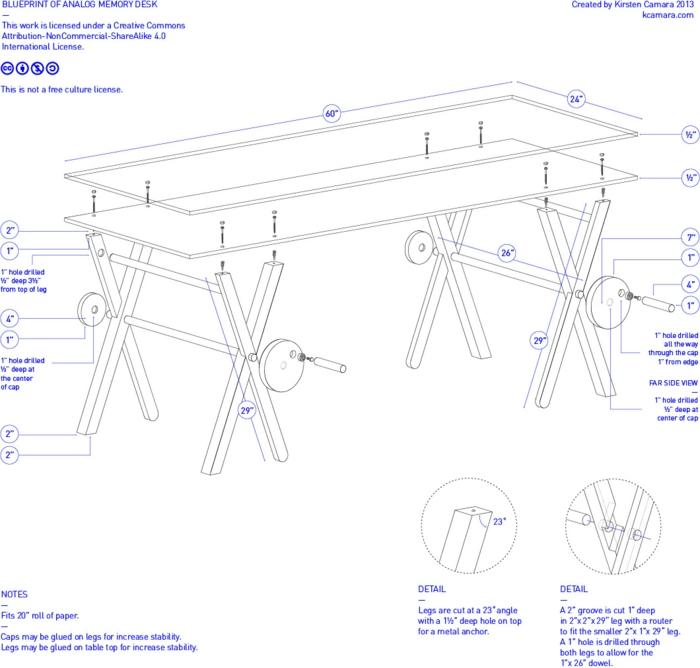 designer schreibtische analog memory desk skizze