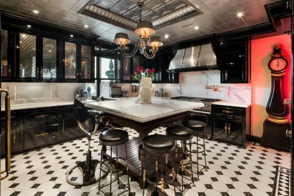 designermode tommy hilfiger luxushaus designer küche schwarz weiß