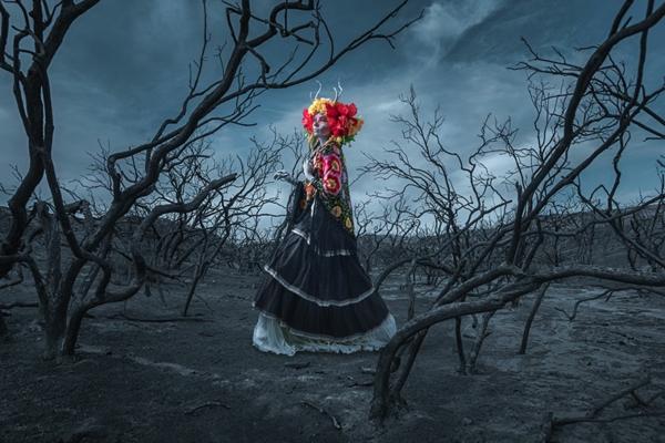 digitale fotografie dia de los  muertos kunst