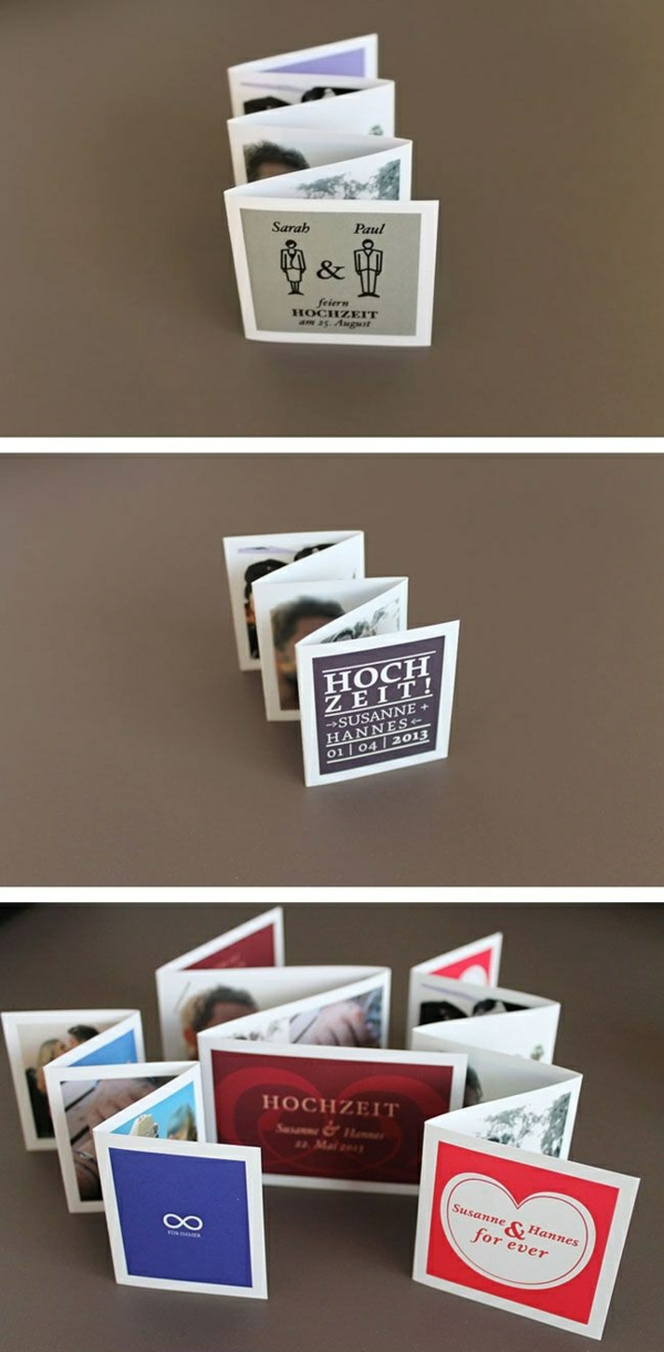 diy projekte und bastelideen leporello einladungen grußkarten basteln mit papier
