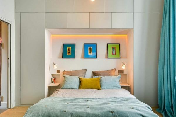 Moderne einrichtungstipps kleines stilvolles apartment in paris - Einrichtungstipps schlafzimmer ...
