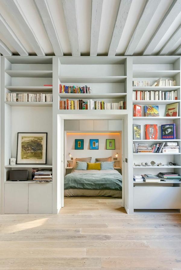 einrichtungstipps wohnzimmer bücherregale schlafzimmer