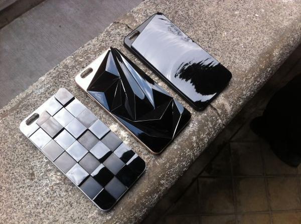 elegantes telefon etui design obsidian