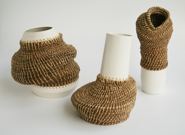 eneida tavares atemberaubende dekovasen keramik korb