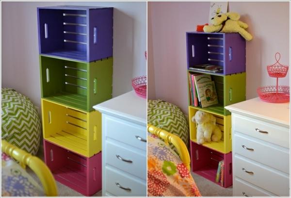 europalette möbel bücherregal design farbig