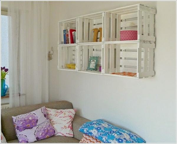 europalette möbel wandregale wohnzimmer gestaltung