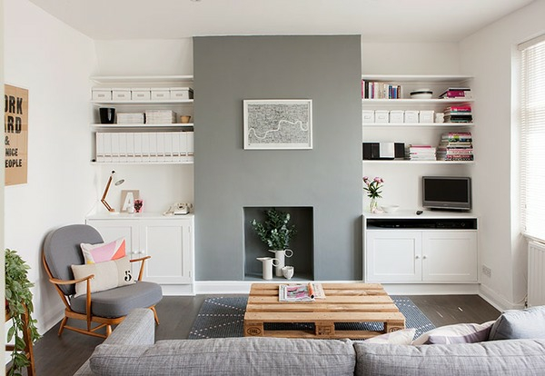 holzpalette modernes wohnzimmer design couchtisch