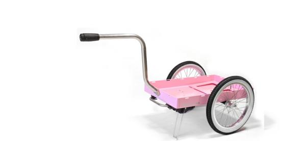 fahrradanhänger rosa gestell