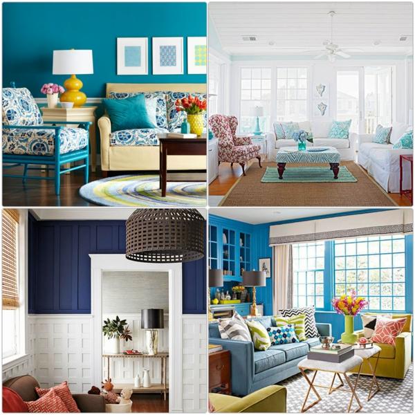 farbgestaltung im wohnzimmer: wandfarben auswählen und gekonnt mischen - Wohnzimmer Mit Blau