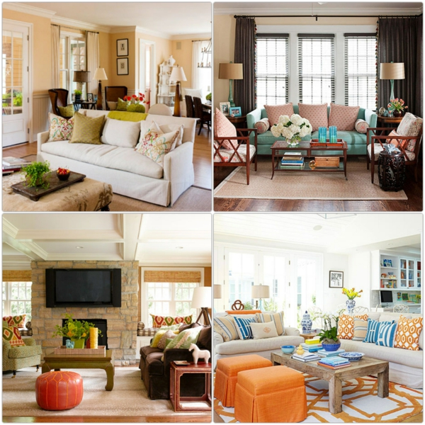 farbgestaltung wohnzimmer wandfarben gestalten brauntöne orange wohnzimmer möbel