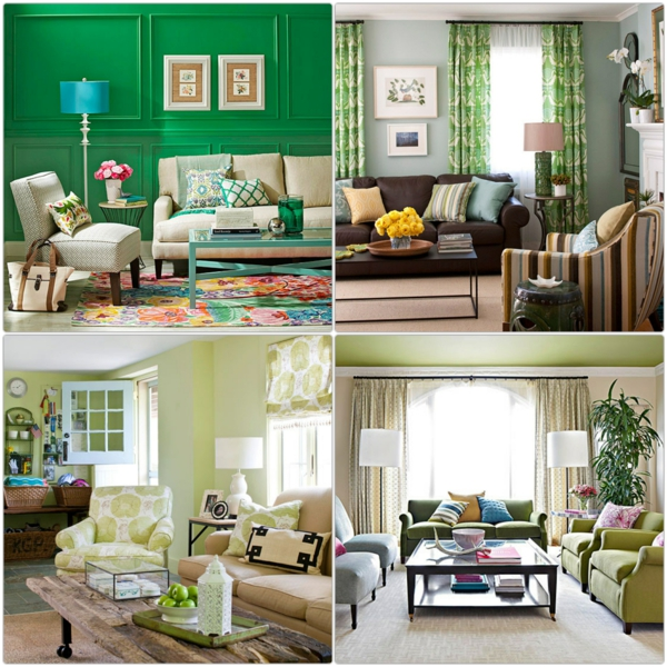 Wohnzimmer Farblich Gestalten Grun  Wohnzimmer Ideen