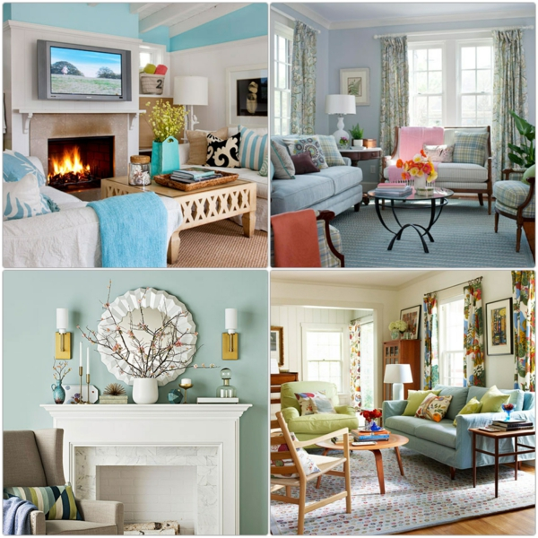 farbgestaltung wohnzimmer wandfarben gestalten minz grün wohnzimmer möbel