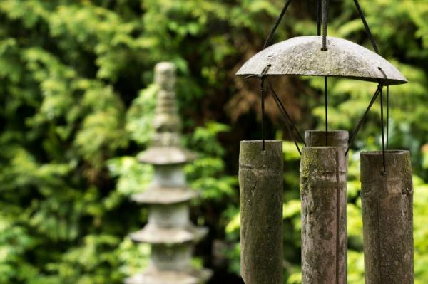feng shui garten bambus windspiel