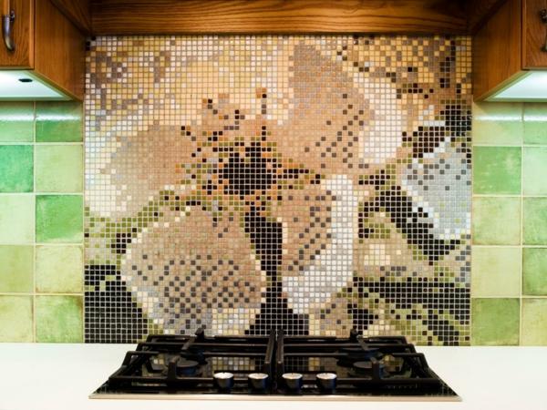Kuchenruckwand Ideen Mosaikfliesen In Der Kuche