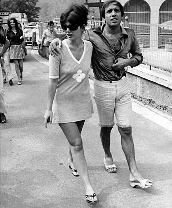 foto schwarz weiß Adriano Celentano ehefrau Claudia Mori