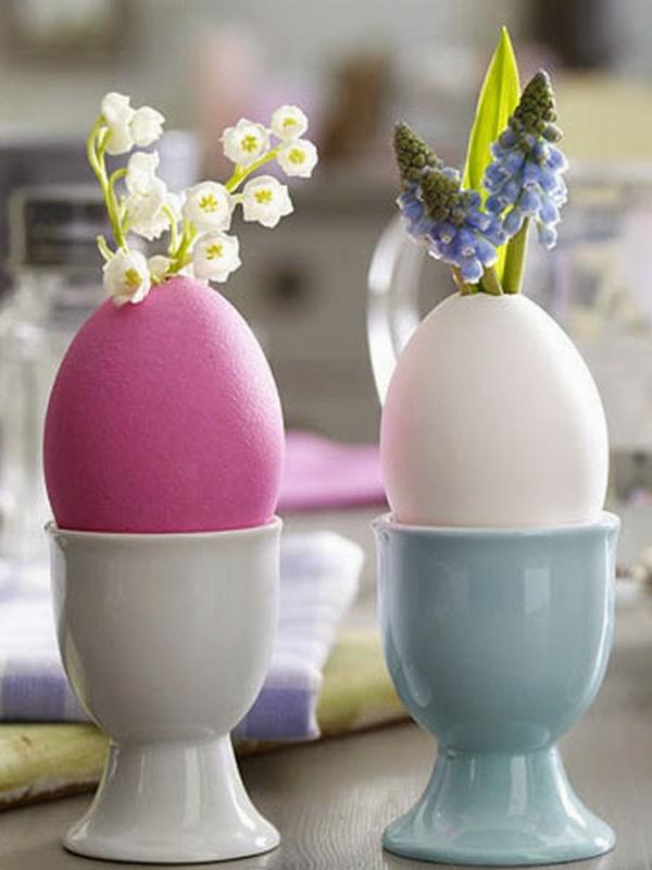 frühlingsblumen basteln eierschalen deko