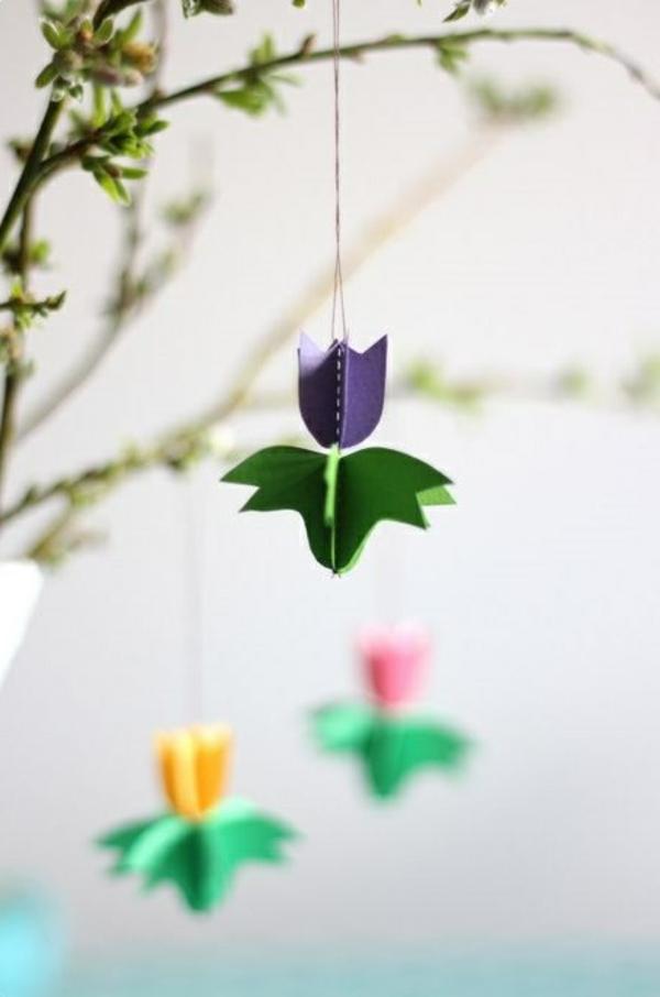 frühlingsblumen basteln schöne dekoideen diy tulpen