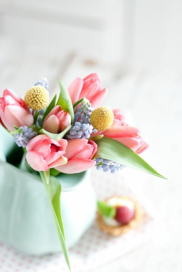 frühlingsblumen blumenstrauß basteln frisch schön