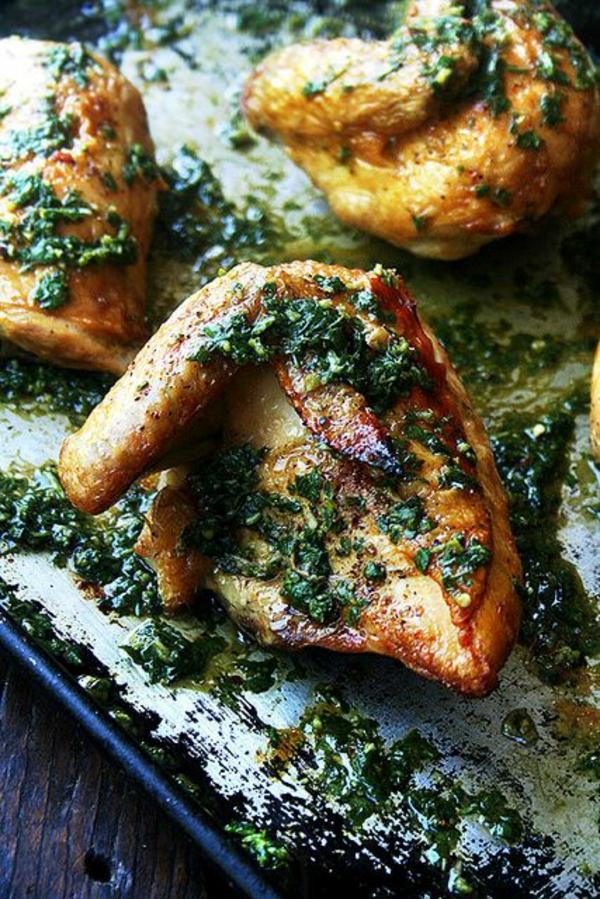 frühlingsrezepte fleischgerichte hähnchen mit gemüse