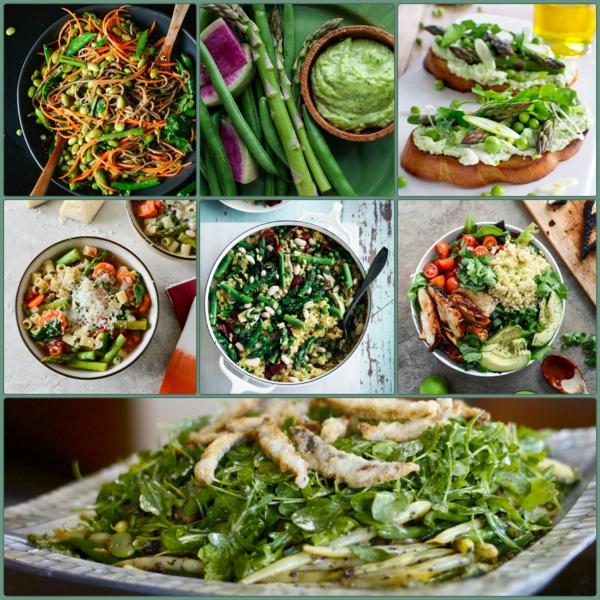 frühlingsrezepte gerichte mit frühlingsgemüse salat