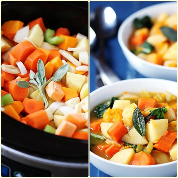 frühlingsrezepte vegetarische gerichte gemüsesuppe