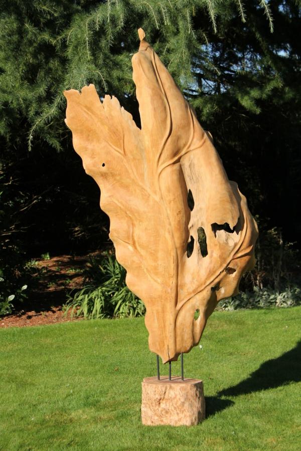 garten dekorieren skulpuren hölzerne figur