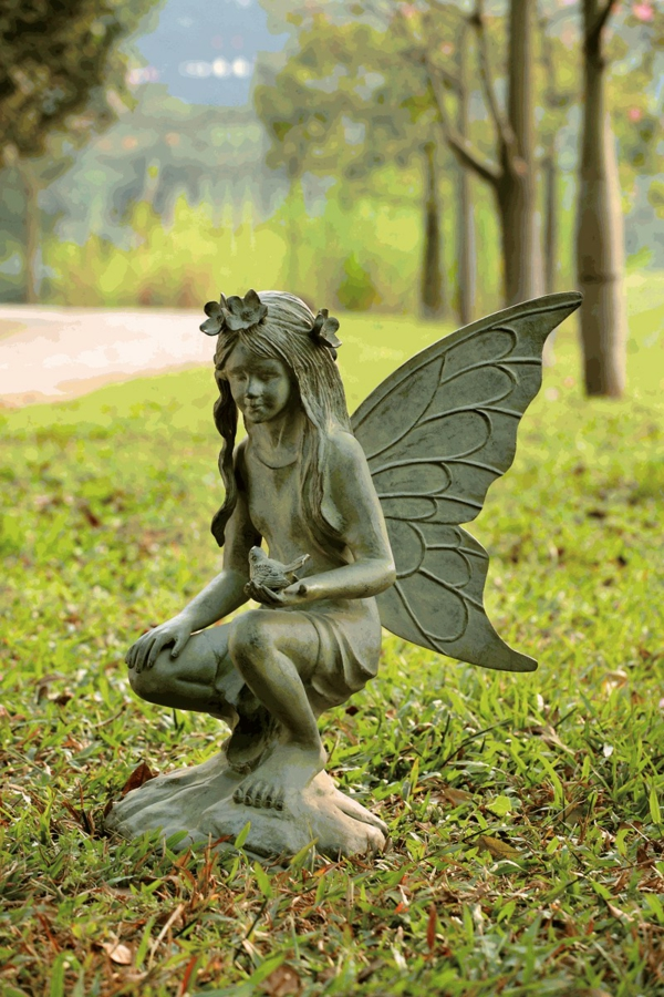 gartenfiguren gartenskulptur fee garten gestalten