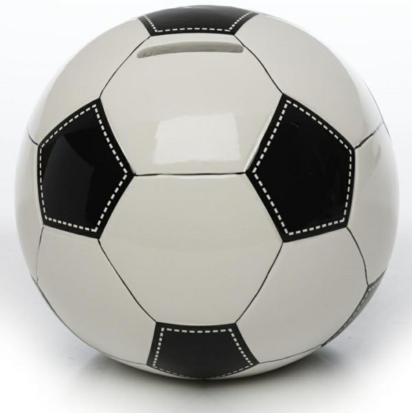 geld sparen lustiges design spardose fußball