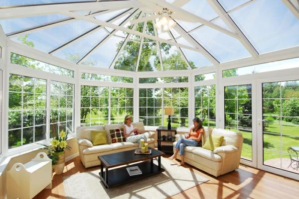 glasveranda wintergarten einrichtungsideen wohnzimmer möbel