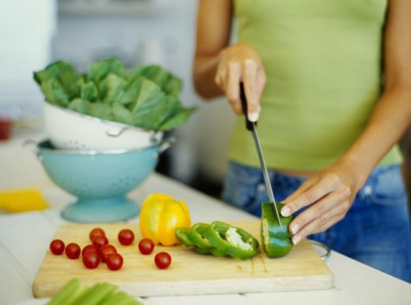 glutenfreies getreide frisches gemüse