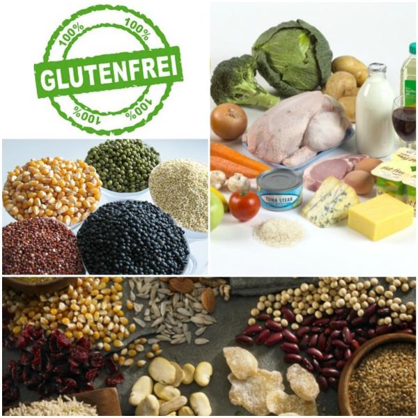 glutenfreies getreide bilder collage