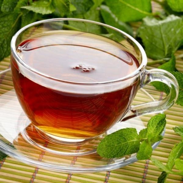 grüne minze blätter tee zubereiten