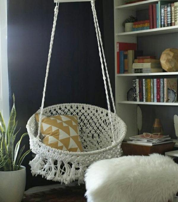 20 diy ideen f r h ngesessel f r eine bessere entspannung. Black Bedroom Furniture Sets. Home Design Ideas