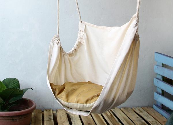 hängesessel hängesitz leinen stoff seile