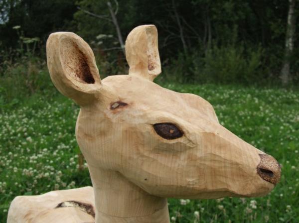 hölzerne skulptur tier garten dekorieren