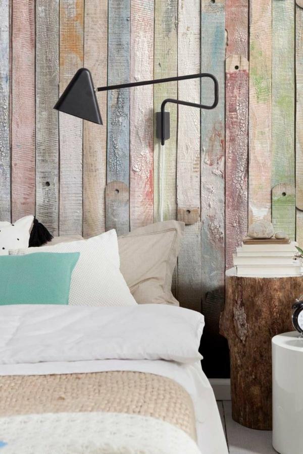 Holzpaneele f r eine au erordentliche wandgestaltung - Schlafzimmer tapeten bilder ...
