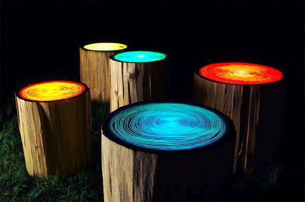 innovative möbel Judson Beaumont designer hocker baumstamm