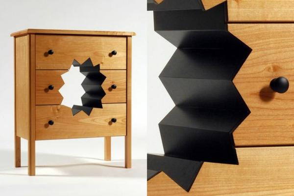 innovative möbel designer ideen kommode loch
