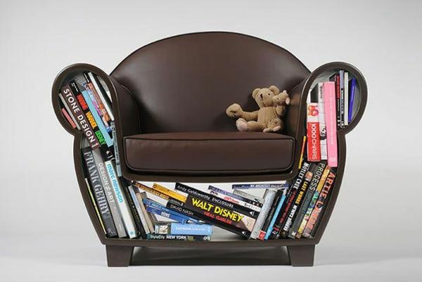 innovative möbel designer sessel bücherregal
