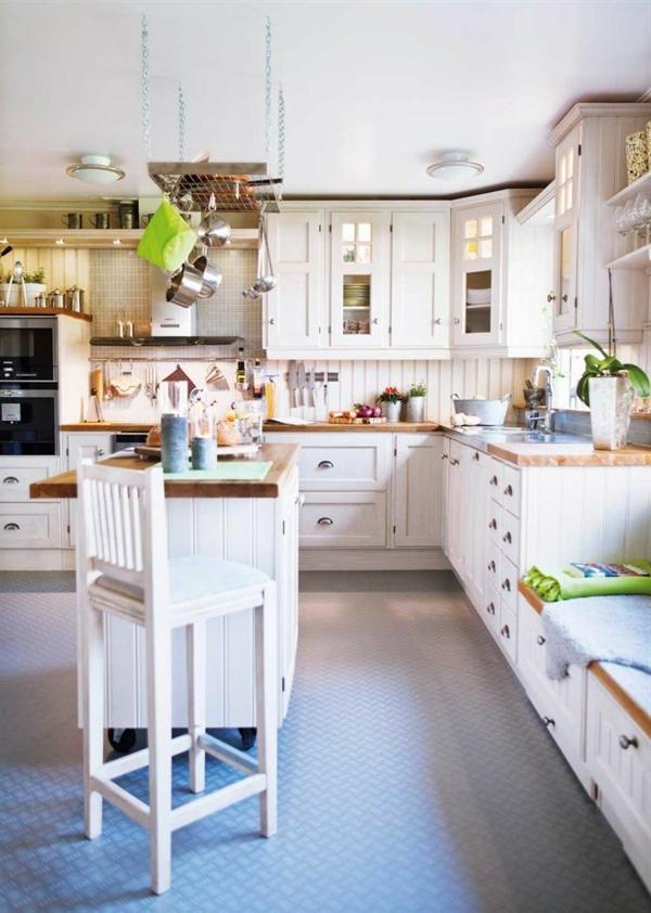 küche einrichten weiße einrichtung kücheninsel