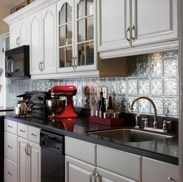küche einrichtungsideen küchenrückwand stilvolle fliesen