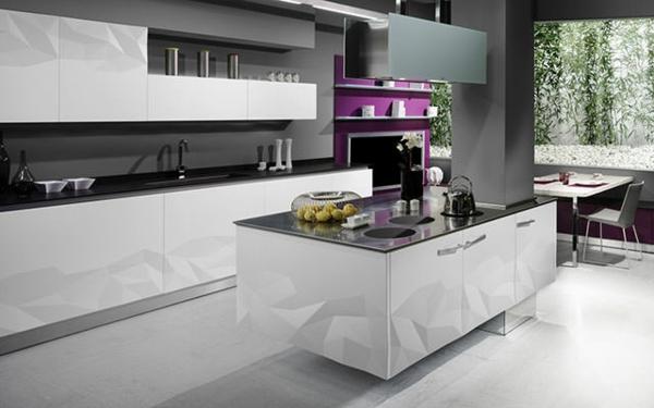 Küchendesign  Küchendesign mit 3D Oberflächen wird Faszination in Ihnen hervorrufen