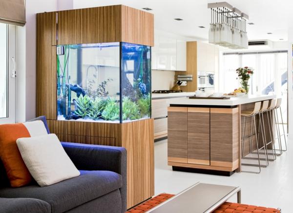 küchendesign ideen deko aquarium