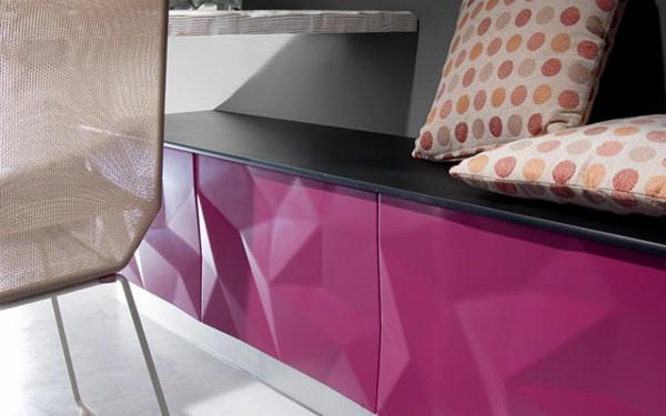 küchendesign lila 3D oberflächen estudiosat