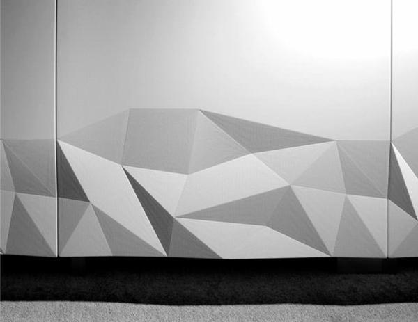 küchendesign moderne einrichtung 3D oberfläche küchenschränke
