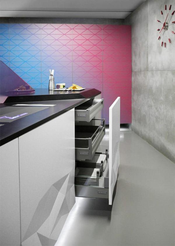 küchendesign moderne küche estudiosat wanduhr
