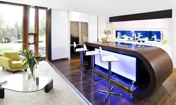 Küchengestaltung Ideen Moderne Küche Aquarium