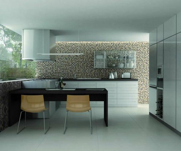 k chenr ckwand ideen mosaikfliesen in der k che. Black Bedroom Furniture Sets. Home Design Ideas
